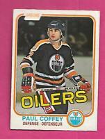1981-82 OPC # 111 OILERS PAUL COFFEY  ROOKIE GOOD CARD (INV# D0276)