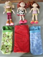 Groovy Girl Doll Lot ~ 3 Dolls, Clothes & Sleeping Bags