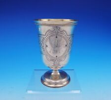 Robert and William Wilson Philadelphia Coin Silver Goblet Hand Engraved GW #3541