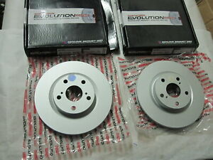 Set of 2 POWERSTOP EVOLUTION COATED Front Brake Rotors Pair