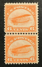 TDStamps: US Airmail Stamps Scott#C1 Mint H OG Pair