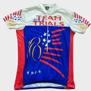 Vintage Canari Team USA Flag Team Trials 1996 Bicycle Cycling Jersey Adult XXL