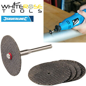 Silverline Cutting Disc Kit Resin Set Metal Wood Trimming Rotary Hobby Tool