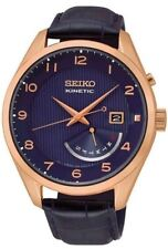 Seiko Kinetic SRN062 Blue Leather Band Blue Dial  Men's Watch
