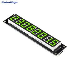 8-Digit LED Display Tube Monitor, 7-segments, 74HC595, GREEN Color