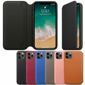 Genuine Leather Folio Flip Wallet Case Cover For Apple iPhone X 8 7 6S 6 Plus