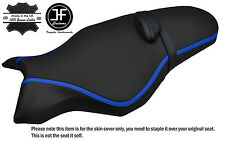 GRIP & CARBON VINYL BLUE STRIPE CUSTOM FITS YAMAHA MT 10 1000 16-17 SEAT COVER