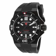 Swiss Legend SL.10062A-BB-01-BLK Abyssos Automatic Black Silicone Black Dial