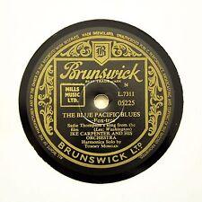 """IKE CARPENTER & HIS ORCHESTRA """"The Blue Pacific Blues"""" (E+) BRUNSWICK [78 RPM]"""
