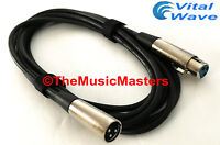12ft XLR Microphone Audio Cable M-F Mic Extension Amp Powered Speaker Wire VWLTW