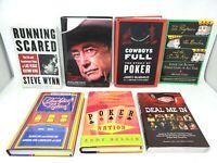 7 Book Lot POKER History Tournaments Professional Casinos Las Vegas