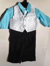 Dress Suits Boys clothes Pants Shirts Tie White Vest Andrew Fezza 4 Pcs 6-9 Mos