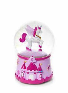 Mousehouse Children's Magical Unicorn Musical Snow Globe Gift Girls