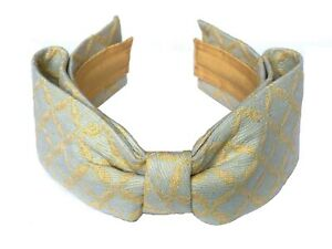 ATELIER POMPON LUXURY COUTURE LIGHT-BLUE HEADBAND WITH BOW $229. HAIRHOLDER
