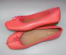 """""""FRECKLE ICE""""Clark's Women/Ladies CORAL Leather Shoes size 6.5 D."""