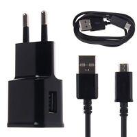 2A USB Domicile Voyage Chargeur Secteur Adaptateur+Charge Câble pour Samsung