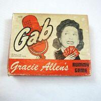 Vintage 1950 Gab Gracie Allens Word Rummy Game COMPLETE w/ Box RARE