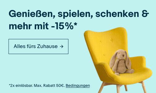 -15% auf alles für Zuhause