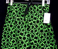 Chef Pants Green Pepper Slice Print Black Drawstring Relaxed Back Pocket Xs New