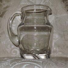 Brocca Caraffa di cristallo Daum France c1950 Water Pitcher Carafe