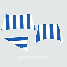Substitutional Sails Set for Lego Ship 6274 - Blue and White-two-sided