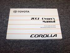 2007 Toyota Corolla Sedan Owner Owner's Operator User Guide Manual CE LE S 1.8L