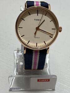 Timex Women's 38mm Multicolor Nylon Band Steel Case Quartz Watch TW2P91500