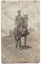 WW1 Royal Field Artillery Soldier on Horseback RP Postcard, Unused Very creased