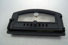 Porte de Four Fonte à Pizza avec Thermomètre Räuchereitür Noir Ofentür