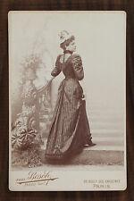Lucy Gérard, Actrice de théâtre, Photo Cabinet card, Van Bosch Paris