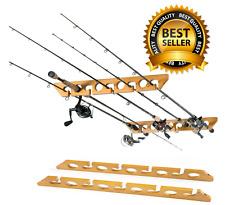 Pole Reel Holder Fishing Rod Ceiling Mount Rack Organizer Storage Cabin Garage