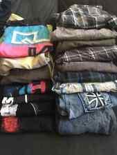 Huge Boys Clothing lot size 14, Hurley, Levi, No Fear, Quicksilver, Hawk & more
