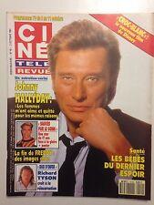 CINE TELE REVUE N°40 1991 JOHNNY HALLYDAY + POSTER MARK PAUL GOSSELAAR