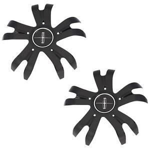"OEM Wheel Center Cap Set (2) 19"" Black Chrome 17-18 MKZ Continental GD9Z1130A"