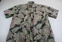 Cooke Street Honolulu Floral Pocket Short Sleeve Button Front Shirt Medium M