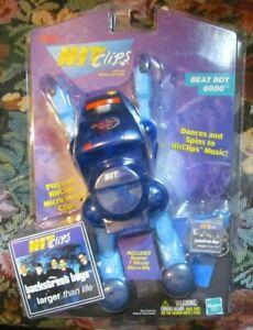 New*Sealed*HIT CLIPS Dancing BEAT BOT Robot Player-Harbro-w/Backstreet Boys Clip