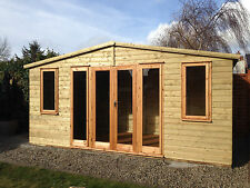 16x8 Shiplap Tongue & Groove WoodenGarden Building-Gym-Summerhouse-Garden Office