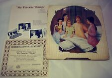 """Vintage 1986 Knowles Decorative Plate THE SOUND OF MUSIC series """"MY FAVORITE THI"""