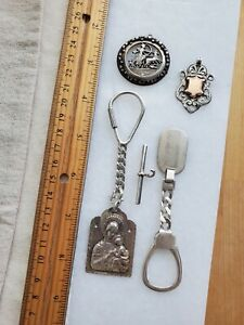 Sterling Silver Key Chain and Watch Fob Lot