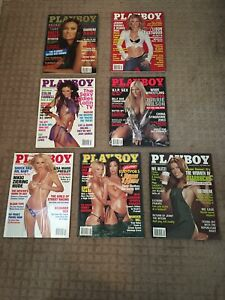(7) Lot of Playboy Magazines 2003 Tia Carrere - Torrie Wilson WWE