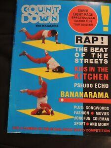 Countdown Music Magazine Aug 1984 Psedo Echo Bananarama Rap Kids Kitchen George