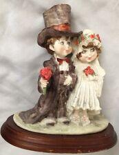 """G Armani 7.5X8"""" Bride & Groom in Beautiful Atire Figurine"""