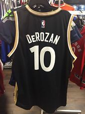 NBA Toronto Raptors DeMar DeRozan Adidas Jersey Black Gold Alternate OVO X-Large