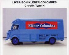 """CAMION-FOURGON DE LIVRAISON CITROËN TYPE H  """"KLEBER-COLOMBES"""" (1952) (1/43éme)."""