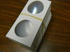(100) 2.5 x 2.5 Cardboard Coin Holders Mylar for American Silver Eagles or Crown