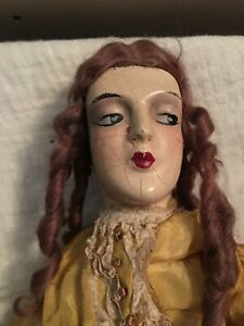 Antique Beautiful Boudoir Composition Doll Anita type 1920's
