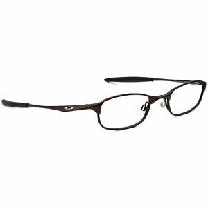 Oakley Eyeglasses 11-735 Straight Line 2.0 Polished Brown Oval Frame 47[]20 135