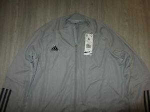 NWT NEW Adidas Soccer Football Gray Track Jacket Coat Womens XL FS7103 Aeroready