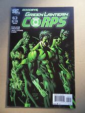 Green Lantern Corps 63 . Final Issue . DC 2011 . VF - minus