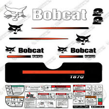 Bobcat T870 Compact Track Loader Decal Kit Skid (Straight Stripes)